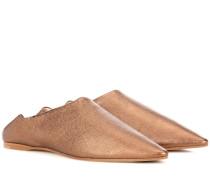 Slippers Amina aus Metallic-Leder