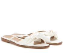 Sandalen April aus Seidensatin