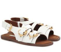 Sandalen aus Lederimitat