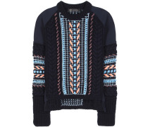 Verzierter Pullover aus einem Wollgemisch