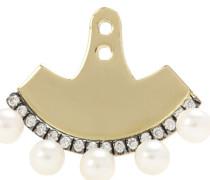Ohrring-Accessoire aus 18kt Gelbgold mit Perlen und Diamanten
