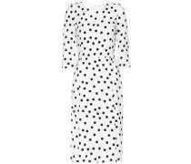 Kleid aus Crêpe mit Polka-Dots