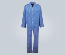 Gestreifter Pyjama aus Baumwolle
