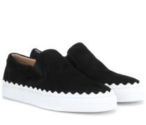 Slip-on-Sneakers aus Veloursleder