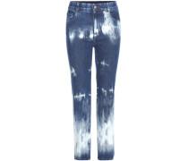 Jeans mit Batikeffekt