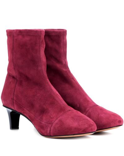 Isabel Marant Damen Ankle Boots Daevel aus Veloursleder Verkaufskosten Verkauf Neuer Günstig Kaufen Offiziellen SLjRM0Ky