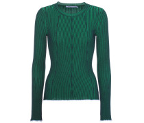 Rib-knitted sweater