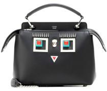 Verzierte Crossbody-Tasche DotCom aus Leder