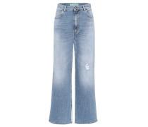 High-Waist Jeans mit weitem Bein