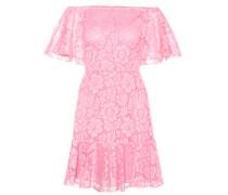 Schulterfreies Kleid aus Spitze