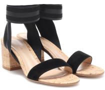 Sandalen mit Veloursleder
