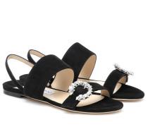 Sandalen Sue aus Veloursleder