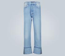 Bedruckte Baggy-Fit Jeans