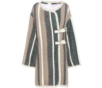 Mantel aus einem Schurwoll-Baumwollgemisch mit Lederschließe