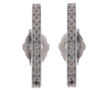 Ohrringe Medium Bar aus 14kt geschwärztem Gold mit Diamanten