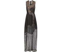 Kleid Reynold aus Baumwollgemisch mit Point d'esprit und Lochstickerei