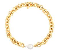 Vergoldete Halskette mit Perle