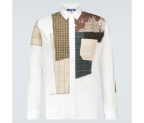 Patchwork-Hemd aus Baumwolle