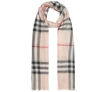 Karierter Schal aus Wolle und Seide
