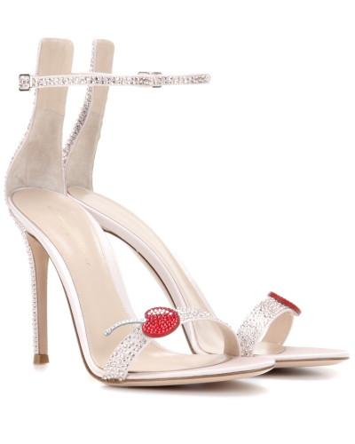 Sandaletten Cherry Portofino aus Satin