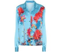 Bedruckte Bluse aus Seidensatin