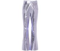 Hose aus Metallic-Leder