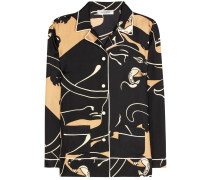 Pyjamabluse aus Seiden-Twill