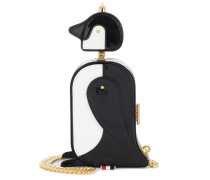 Schultertasche Penguin aus Leder