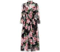 Kleid aus Seide mit Print