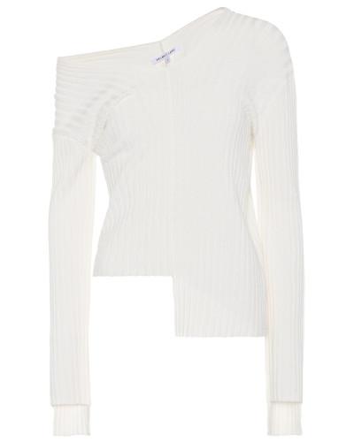 Asymmetrischer Pullover mit Stretch-Anteil