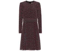 Kleid aus Seiden-Crêpe mit Polka-Dots