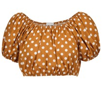 Cropped-Top aus Popeline