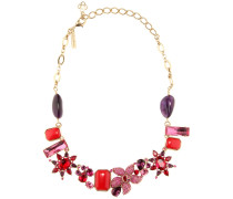Halskette mit Kristallen und Schmucksteinen