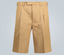 Shorts aus Baumwoll-Twill