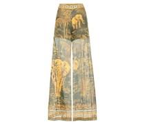 Hose aus Baumwolle mit Elefantenprint