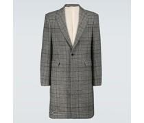 Einreihiger Mantel mit Wollanteil