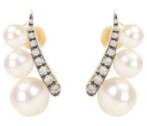 Ohrringe Prive aus 18kt Gelbgold mit Perlen und Diamanten