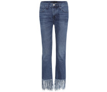 Jeans Mid-Rise Lima mit Fransen