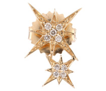 Ohrring Double Starbust aus 14kt Gold