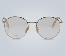 Runde Brille aus Metall