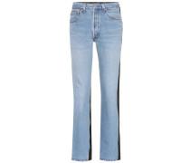 Jeans mit Lederanteil