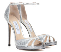Sandaletten Talia 120 mit Glitter und Metallic-Leder