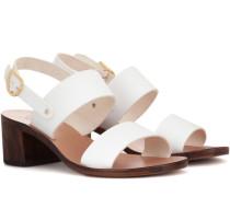 Sandalen Lefki Block aus Leder