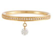 Ring Zéus aus 18kt Gelbgold mit Diamanten