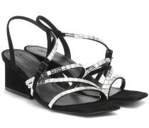 Sandalen Kelina aus Veloursleder