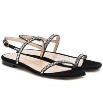 Sandalen Samarra aus Veloursleder