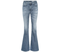 High-Rise Flared Jeans Quinne