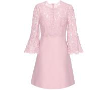 Kleid aus Schurwolle, Seide und Spitze