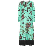 Kleid Powerful Flora aus Seiden-Faille