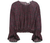 Bluse aus Baumwolle und Seide